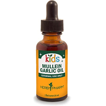 Herb Pharm Kids Mullein and Garlic Oil, 1 Fl Oz