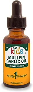 Herb Pharm Kids Mullein and Garlic Oil, 1 Ounce