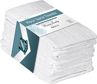 ZOYER Flour Sack Dish Towels (12 Pack) - Cotton Dish Tea Towels 28x28 Inch Kitchen Towels Pure Ring Spun Cotton Multi-Purpose Absorbent Bar Towels Kitchen Linen Set