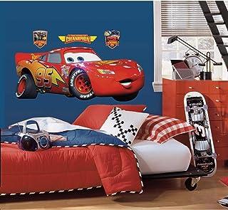 RoomMates Disney Pixar Cars Lightening Mcqueen Peel and Stick Giant Wall Decal - RMK1518GM