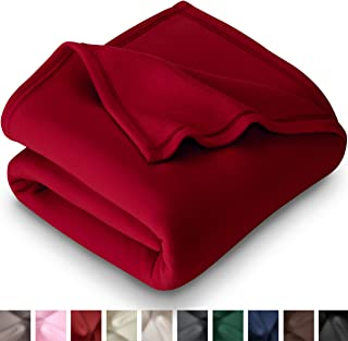 Bare Home Polar Fleece Blanket - King Size - Warm Cozy - Hypoallergenic Premium Poly-Fiber Yarns - Thermal - Lightweight Bed Blanket (King, Red)