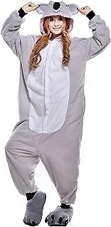 Koala Pigiamone Tuta Unicorno Panda Ducomi Kigurumi Pigiami Costumi Divertenti Peluche Halloween e Carnevale Donna Uomo Mucca, L Pigiama Unisex Adulto Cosplay Costume Animale