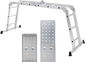 SONGMICS Escalera de Aluminio Multifuncional, Máx. Carga de