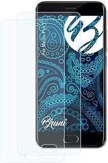 Bruni Skärmskydd är kompatibel med Meizu Pro 7 Film, kristallklart Skyddsfilm (2X)
