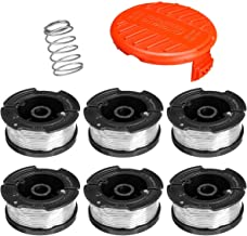 FuJiaXin Trimmer Strimmer Spool & Line for,for Black+Decker String Trimmers, Replacement Auto Feed Spool,Compatible with B...