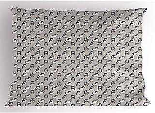 4 Piezas 18X18 Pulgadas Funda De Almohada Pingüino,Bebé Rítmico,Pájaro Acuático,Estrellas,Estilo De Vivero,Motivos De Diseño De Dibujos Animados,Decoración Del Hogar,Funda De Almohada Impresa Estándar