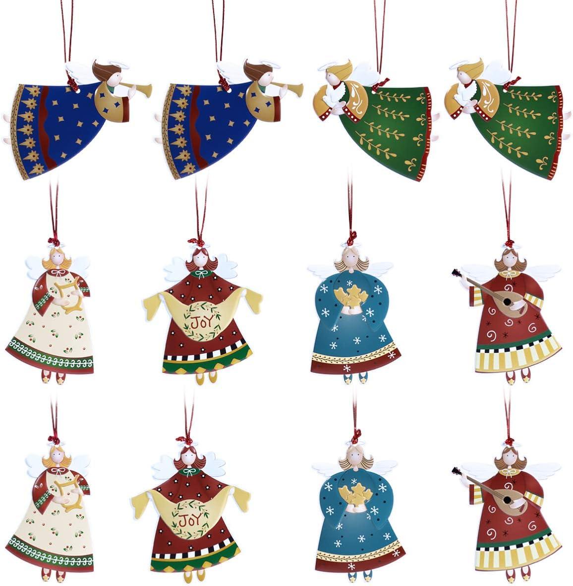 2021 Amosfun 12PCS Christmas Tree Now free shipping Angel Iron Dancing Ornamen Pendants