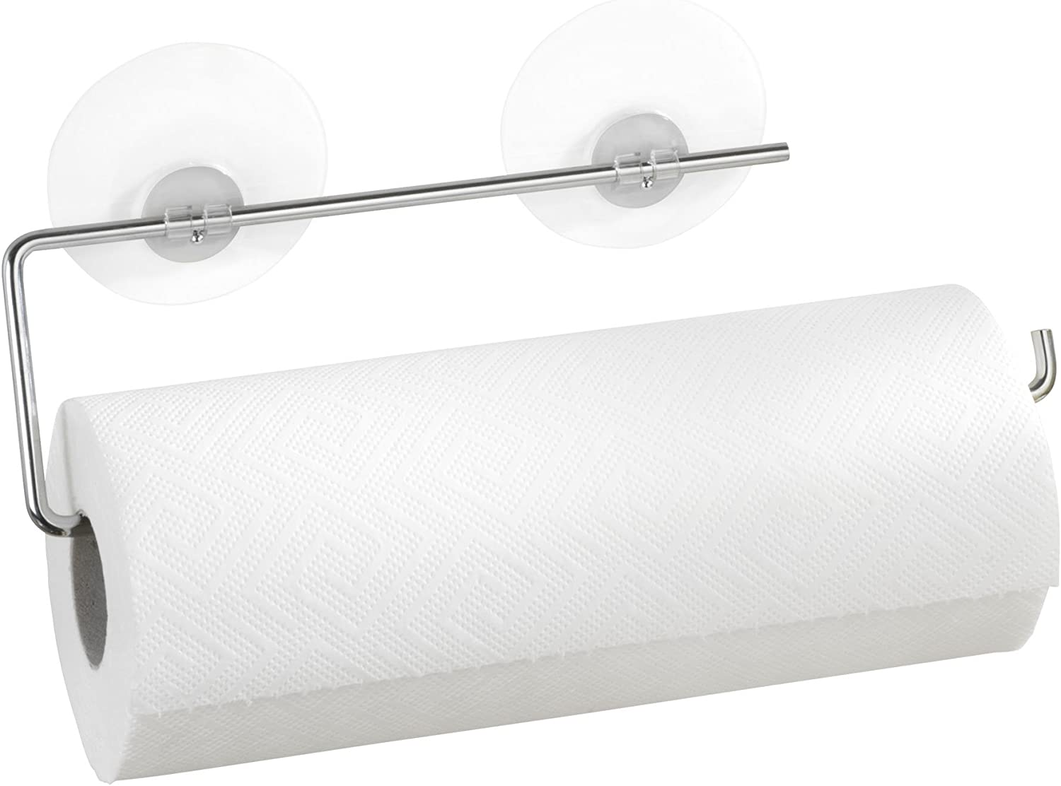 WENKO Silver Easy to use Paper Holder Drillin Towel Mount Max 90% OFF Wall At the price of surprise