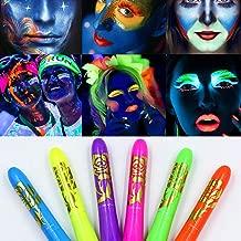 Luminous Face Paint Crayons,Washable,Halloween Making up