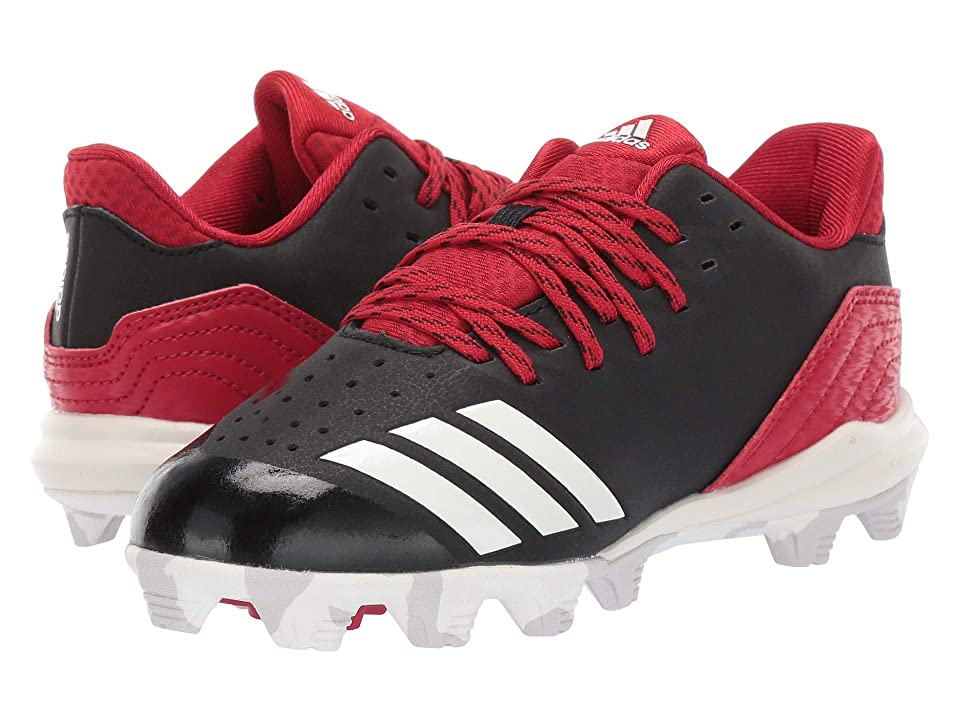 adidas Kids Icon 4 MD Baseball (Toddler/Little Kid/Big Kid) (Black/Cloud White/Red) Kids Shoes