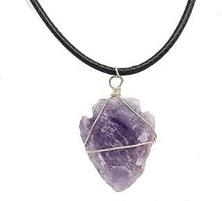 Fundamental Rockhound: Purple Amethyst Arrowhead Necklace Pendant on 17