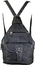 Women's Leather Sling Purse Handbag Convertible Shoulder Bag Tear Drop Backpack