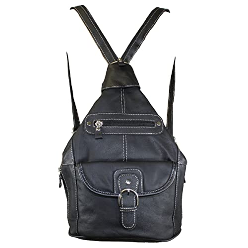 e1b53a3b47 Women s Leather Sling Purse Handbag Convertible Shoulder Bag Tear Drop  Backpack