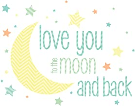Wall Pops WPWW1376 I Love You to The Moon Wall Decal Wishes
