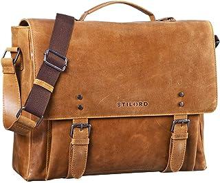 """STILORD """"Alfred"""" Vintage Leder Aktentasche aufsteckbar XL groß Laptoptasche 17 Zoll Lehrertasche Dokumententasche Business Büro"""