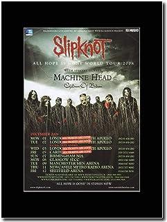 - Slipknot - Four Gigs All Tickets Have Gone 2008 UK Tour Dates - Revista montada Obra de arte promocional en una montura negra - Matted Mounted Magazine Promotional Artwork on a Black Mount
