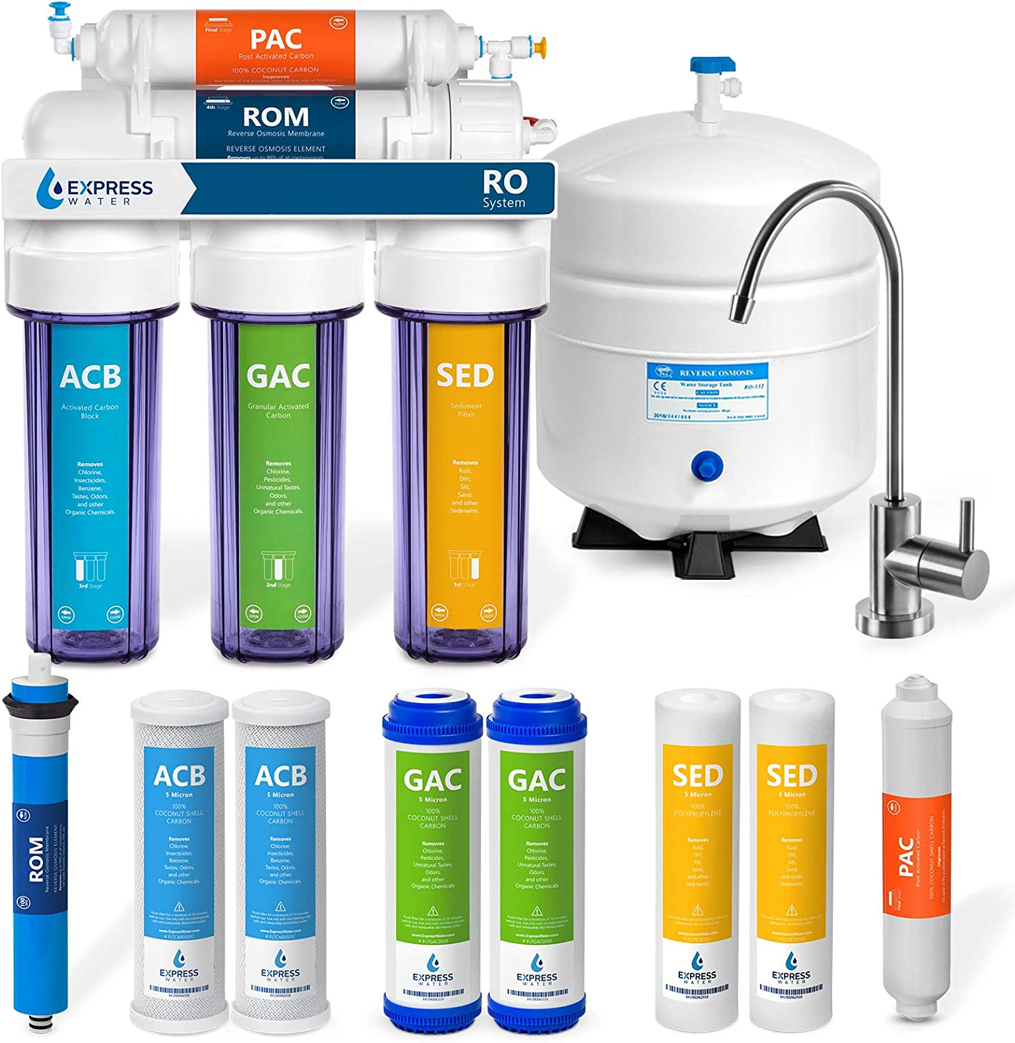 Express Water Reverse Osmosis Filtration – System Complete Free Shipping Cheap sale Stage 5