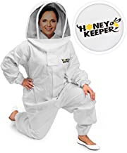 Honey Keeper Professional Cotton Full Body Beekeeping Suit with Self Supporting Veil Hood - XXLarge