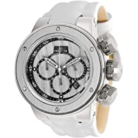 Invicta Subaqua Stainless Steel Quartz Men's Watch with Leather-Synthetic Strap (White)
