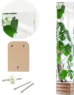 鏡 壁掛け 全身 おしゃれ 30×150cm 日本製 工具付 [ 賃貸 対応 貼る デザインミラー ]クリスタルロング