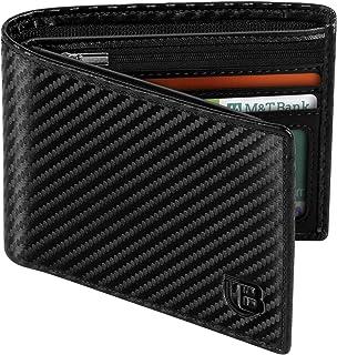 Portafoglio Uomo, BIAL RFID Slim Portafoglio Uomo Pelle, 8 Porta Carte di Credito 3 Finestre Di Identificazione, Portafogl...