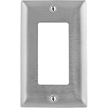 SWITCH PLATE STAINLESS STEEL S533DR BRYANT 3 GANG RECEPTACLE DUPLEX