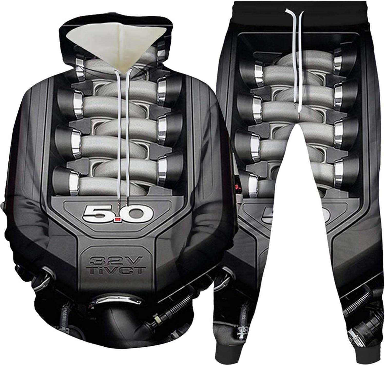 URVIP Unisex 3D Printed Hooded Tops Hoodie Sweatshirts Pants Tracksuit Sets