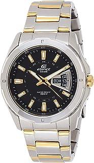 ساعة بسوار ستانليس ستيل للرجال من كاسيو EF-129SG-1AVUDF - أسود