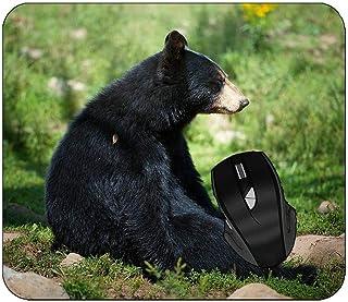 Mousepads Animal Bear Black Bear Sitting Mouse Mat