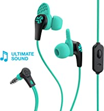 JLab Audio JBuds Pro Signature Earbuds | Titanium 10mm Drivers | Music Controls, Universal Mic | Custom Fit with Cush Fins | Teal