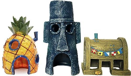 SLOCME Spongebob aquarium decorations