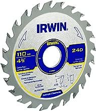 Irwin IW14312, Lâmina de Serra Circular para Madeira, 350 mm, 36 Dentes, Prata e Azul