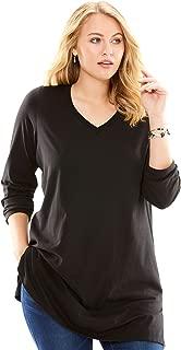 Women's Plus Size Long-Sleeve V-Neck Ultimate Tunic