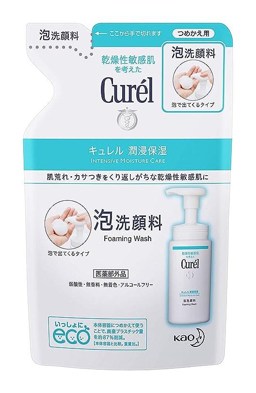 浴室うれしいカーテン【花王】Curel(キュレル) 泡洗顔料 つめかえ用 130ml ×10個セット