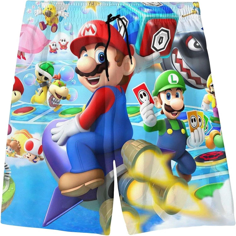 Hunwboi Super Mario Boys Teens Swim Sui Trunks Bathing Quick Dry beauty product Store restock quality top
