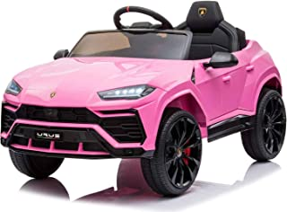 - XMGHTU - Kids Ride On Car 12V Rechargeable Toy Vehicle,Compatible with Licensed Lamborghini Kids Car w/ MP3 Remote Contr...