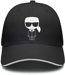 Karl-Lagerfeld-Yellow- Baseball Cap for Men Women-Classic Cotton Dad Hat Plain Cap Low Profile