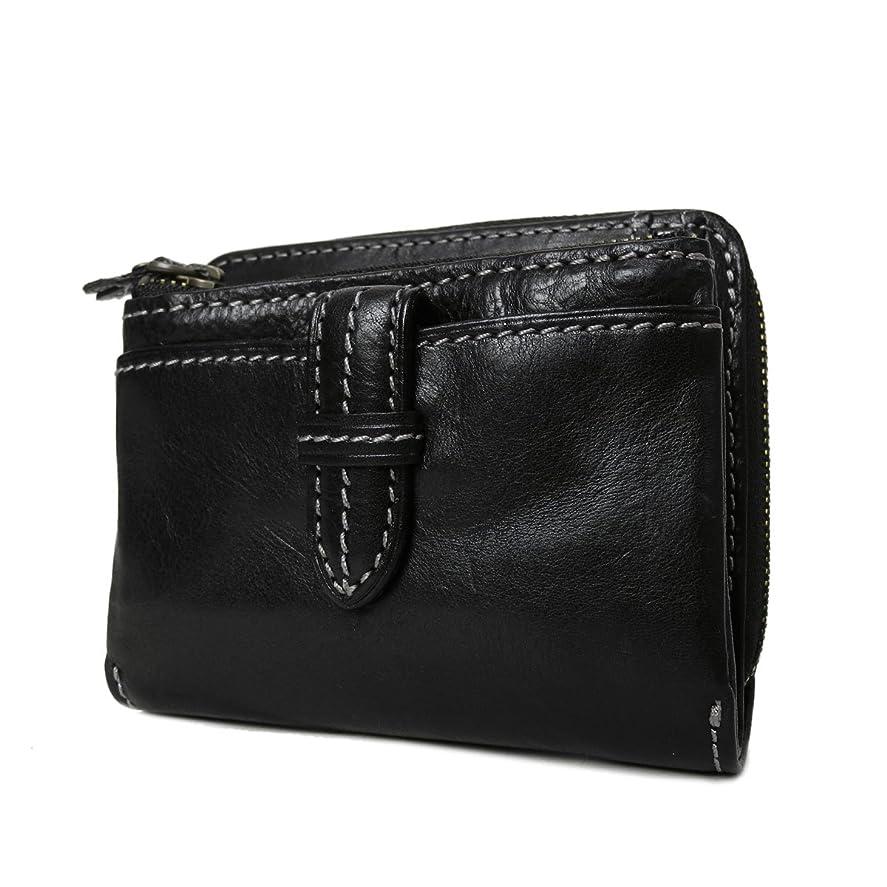 帆帰る微視的[ダコタ] Dakota クラプトン 財布 二つ折り財布 0035102 (0030102、0031502)(ブラック)