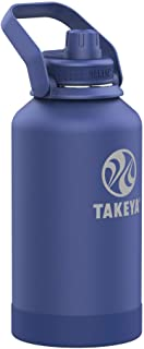 Takeya Newman Pickleball Insulated Water Bottle with Sport Spout Lid and Extra Large Carry Handle, 64oz Rally Blue