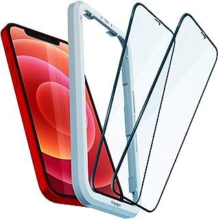 Spigen AlignMaster 全面保護 ガラスフィルム iPhone 12、iPhone 12 Pro 用 ガイド枠付き iPhone12、iPhone12Pro 用 保護 フィルム フルカバー 2枚入