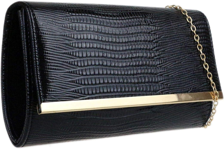 Girly Handbags Croc Effet Pochette