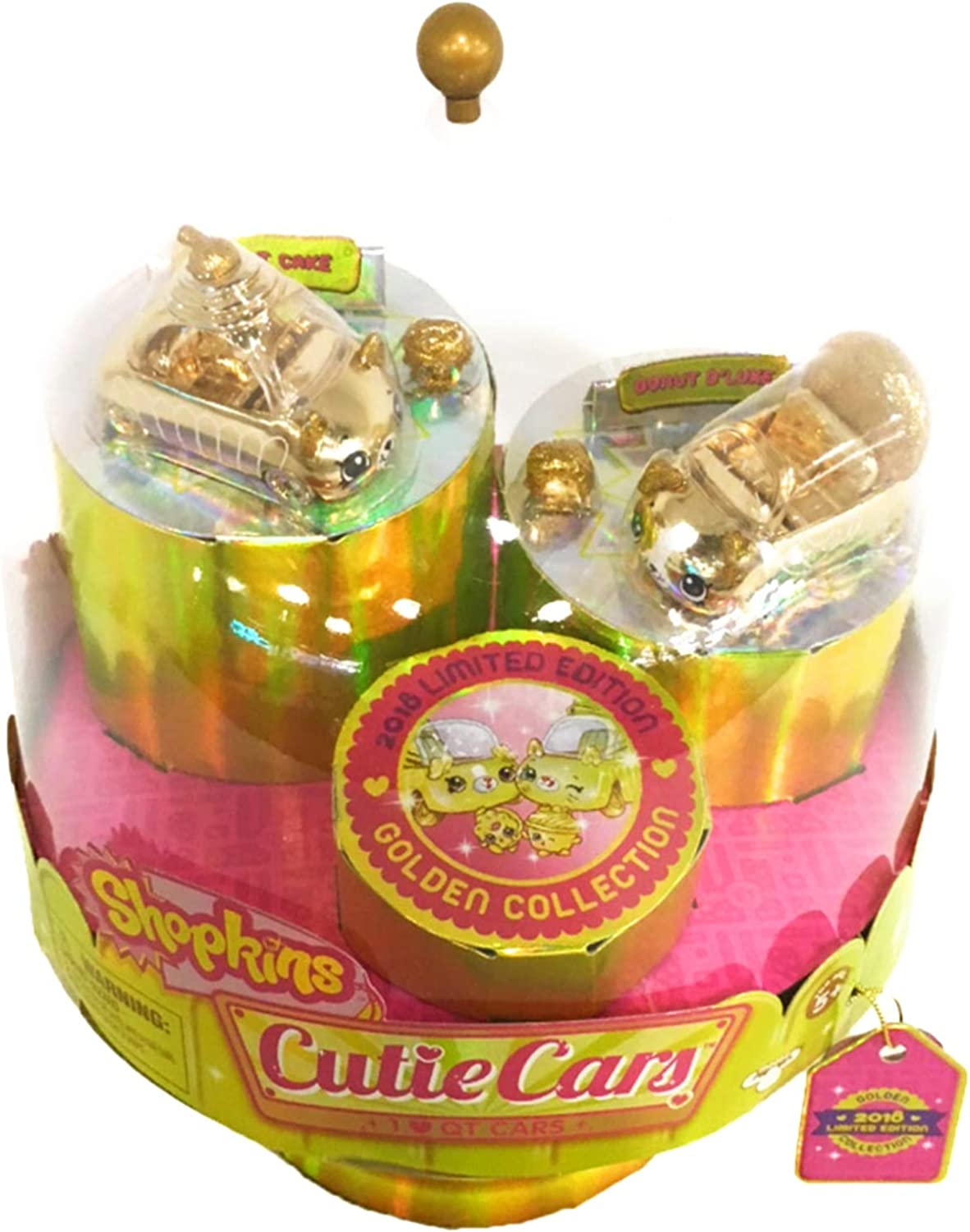 SDCC 2018 Limited Edition Exclusive   _Shopkins Cutie Cars  24 Carat Bling gold (2 Pack)