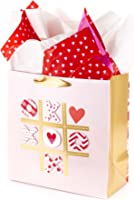 Hallmark Signature Large Gift Bag with Tissue Paper for Valentine's Day or Anniversary (Tic Tac XOXO)