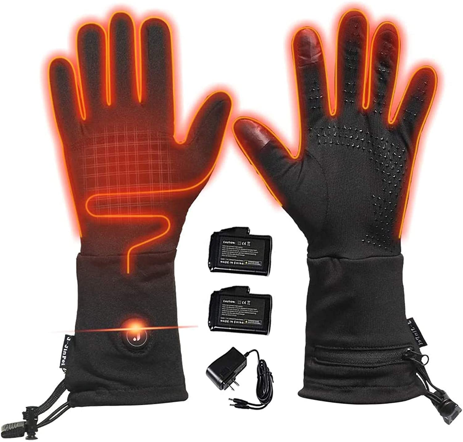 Heated Glove Liners for Men Women,Electric Arthritis Mittens Motorcycle Ski Hiking Hand Warmer