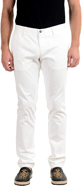 Hugo Boss Slim Fit White Men's Casual Pants US 32R IT 48