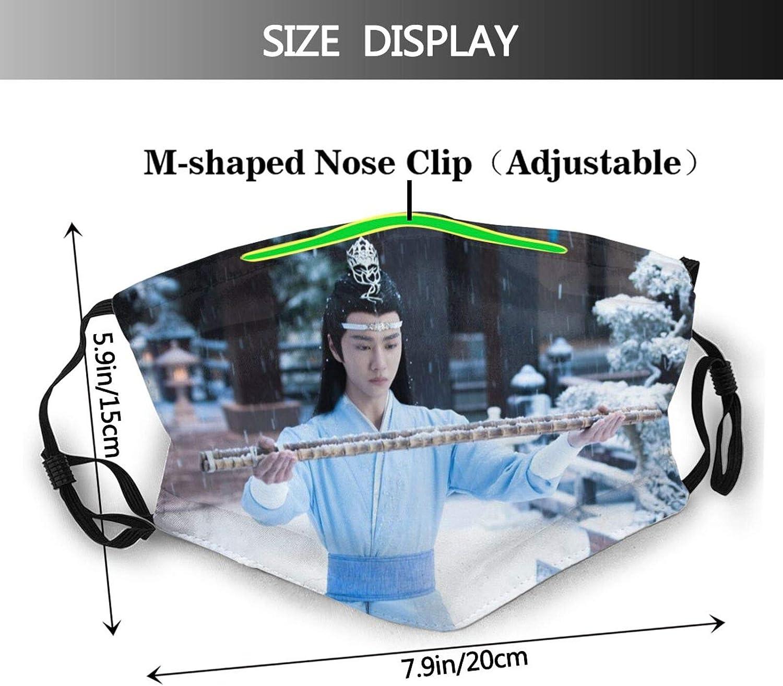 Aboutbaby Chen Qingling Xiao Zhan Wang Yi Bo Dust Mask Reusable Dustproof Balaclava for Men Women with 2 Filters