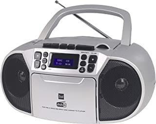Dual DAB-P 210 Cassette Radio with CD - DAB (+)/FM Radio - Boombox - CD Player - Stereo Speaker - USB Port - Aux Input - M...