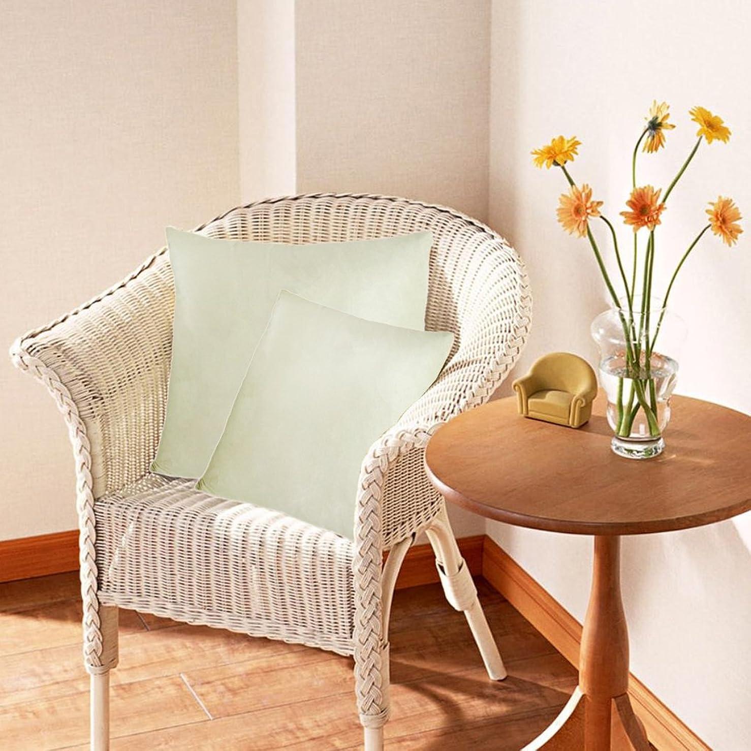 弾丸仲間、同僚隣人クッションカバー 抱き枕カバー 装飾枕ケース ソファ 車 椅子用 飾り 約50×50cm 全20色 - クリーム