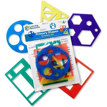 Learning Resources Kit de pochoirs de Formes primaires, LER5440