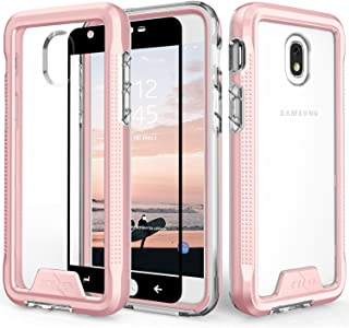 Zizo Ion Series Compatible with Samsung Galaxy J7 2018 Case Military Grade Drop Tested with Tempered Glass Screen Protector J7 Refine J7 Star Rosegold